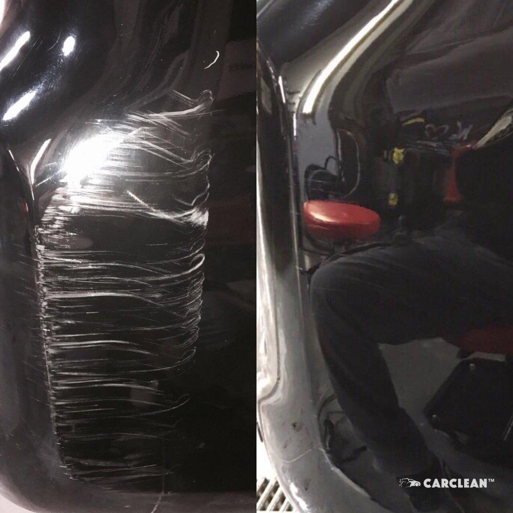 Удаление царапин на автомобиле полировкой - студия детейлинга Carclean Луцк